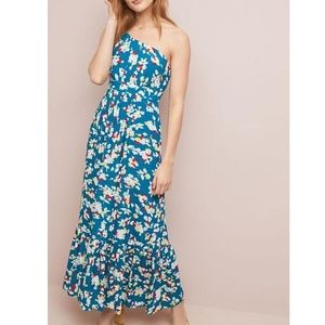 Anthropologie Bouquet One-Shoulder Maxi Dress